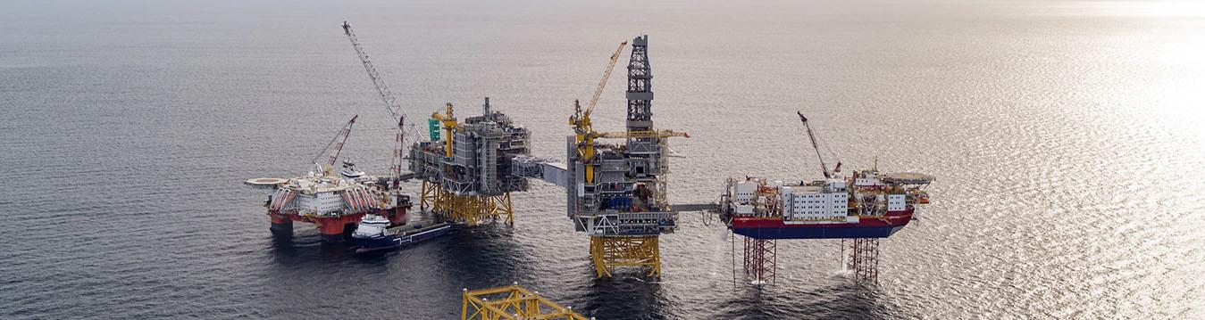 The Johan Sverdrup field under development.